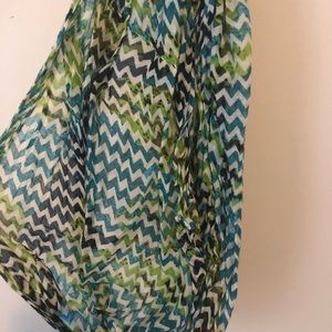 Colorful light infinity scarf